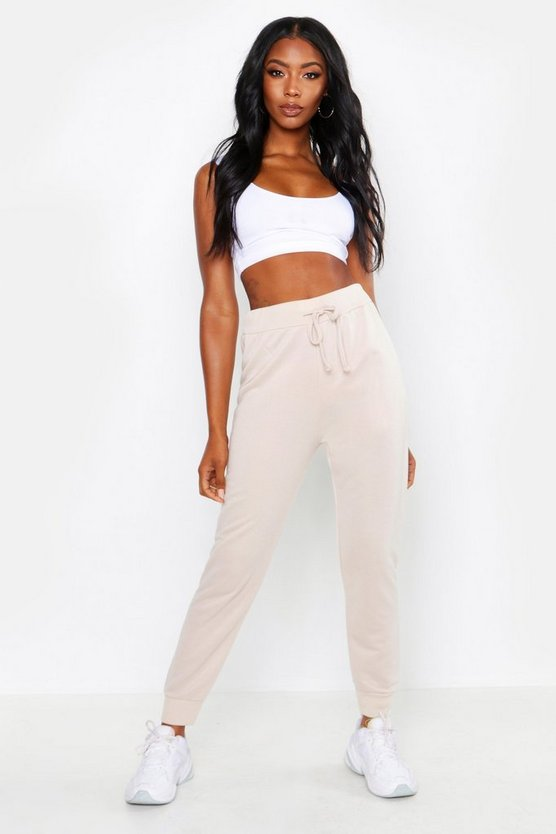Womens Ecru Sweat Joggers