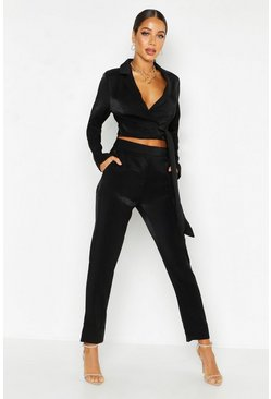 Womens Black Tailored Trouser