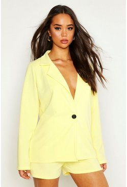 Yellow Tailored Blazer & Short Co-Ord