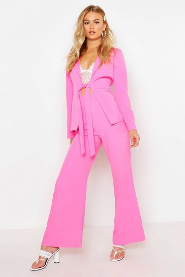 Womens Fuchsia Tailored Trouser