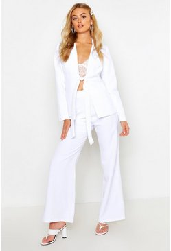 Womens White Tailored Trouser