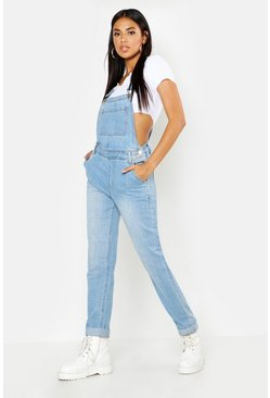 Womens Light blue Boyfriend Denim Dungaree