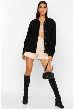 Womens Black Oversized Denim Jacket