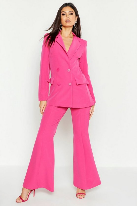 Womens Hot pink Fitted Tailored Blazer
