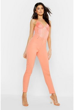 Womens Coral Tapered Leg Pants