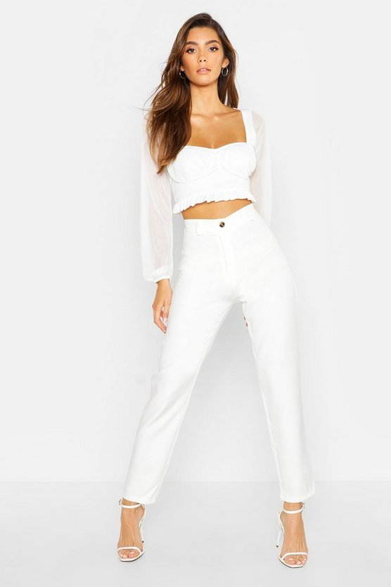 Ivory Tapered Pants