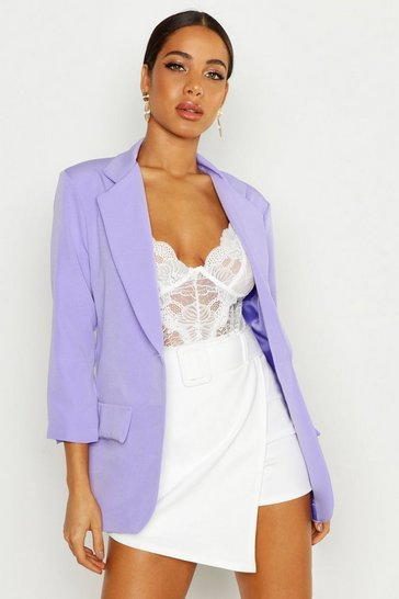 Womens Lilac Single Breasted Blazer