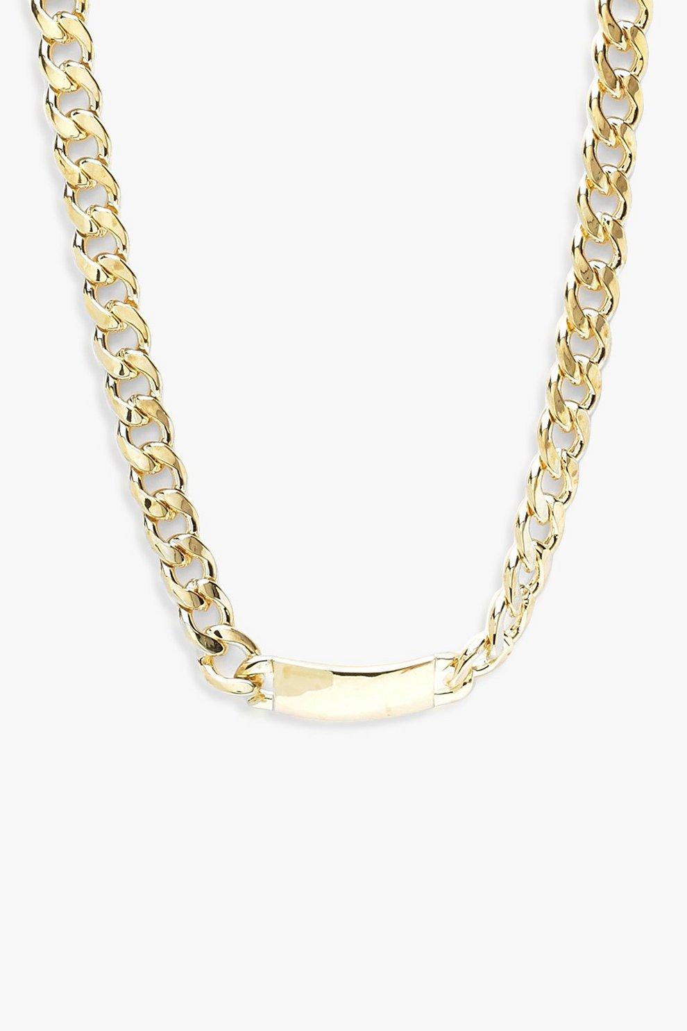 681e68b1916bb6 Chunky Bar Chain Necklace | Boohoo