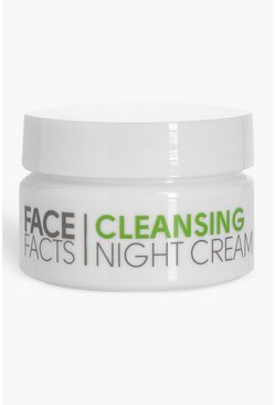 Womens White Face Facts Night Cleansing Cream