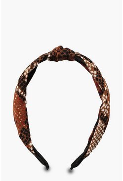Womens Natural Snake Twist Knot Headband