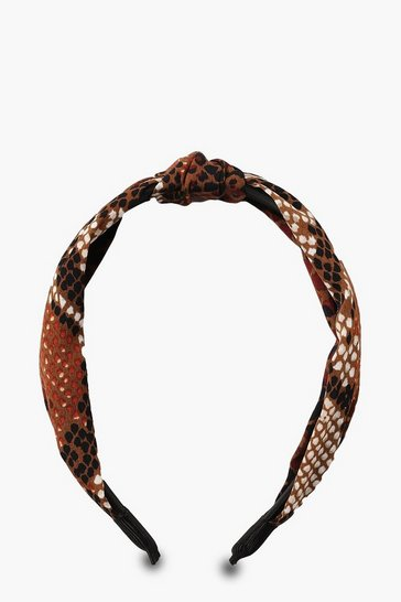 Natural Snake Twist Knot Headband
