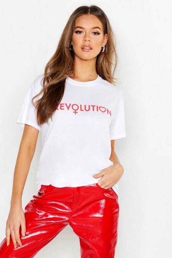 Revolution Slogan T-Shirt