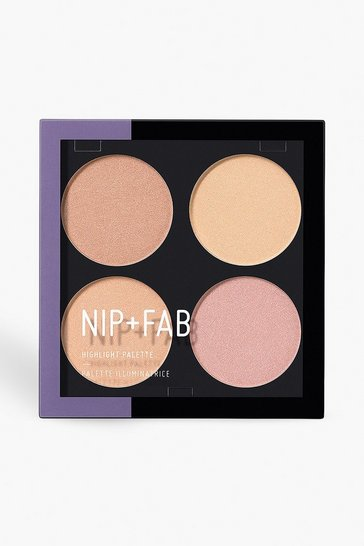 Womens Multi Nip + Fab Highlight Glow Out Palette