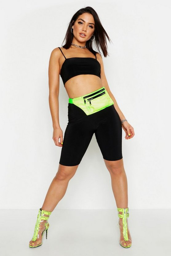 Womens Black Slinky Cycling Shorts