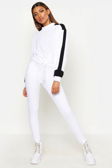 Womens Ivory Basic Denim Look Jeggings