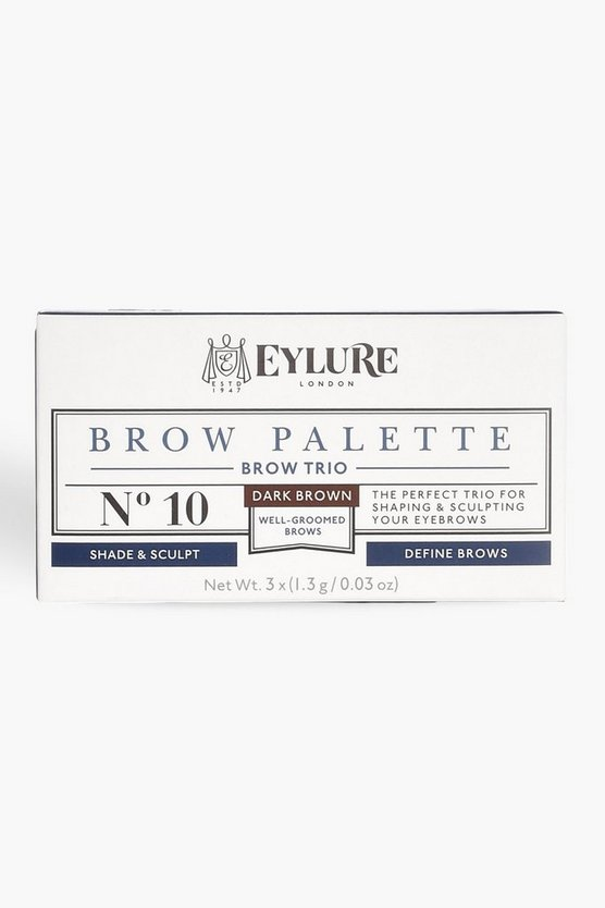 Womens Brown Eylure Brow Palette - Dark