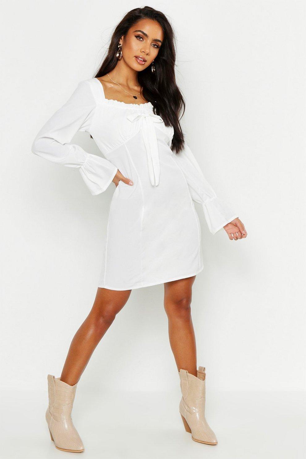 68655341c4 Off Shoulder Long Sleeve Gypsy Style Dress