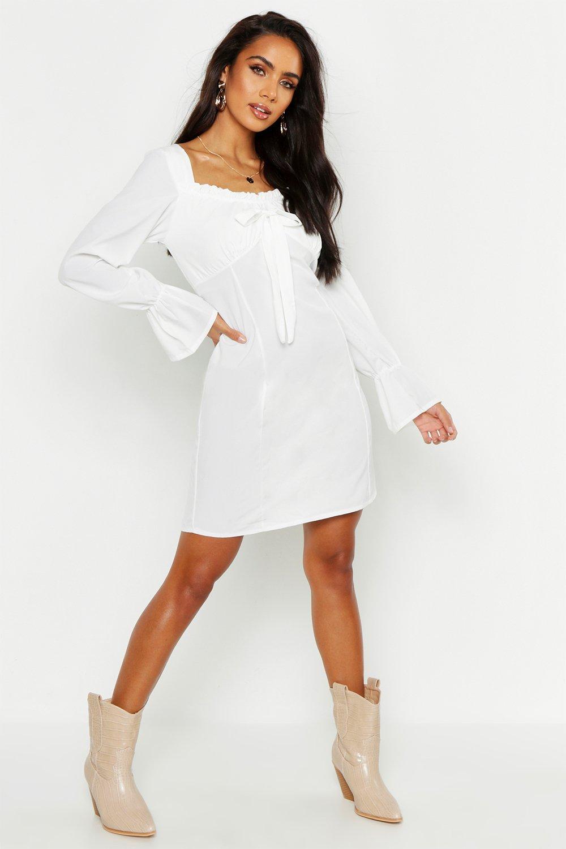 11c931d8794e4 Off Shoulder Long Sleeve Gypsy Style Dress | Boohoo