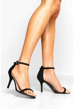 Black Wide Fit Low Heel 2 Parts