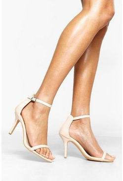 Womens Nude Wide Fit Low Heel 2 Parts