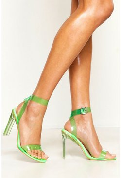 Womens Lime Clear Heel 2 Parts