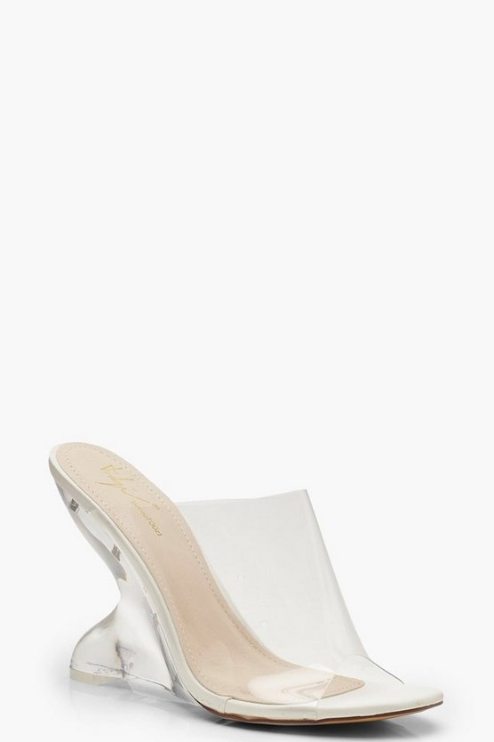 Feature Heel Mule Wedges