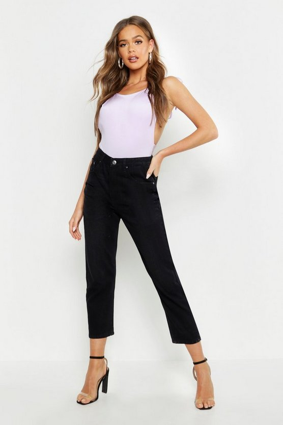 Mid Rise Straight Leg Jean