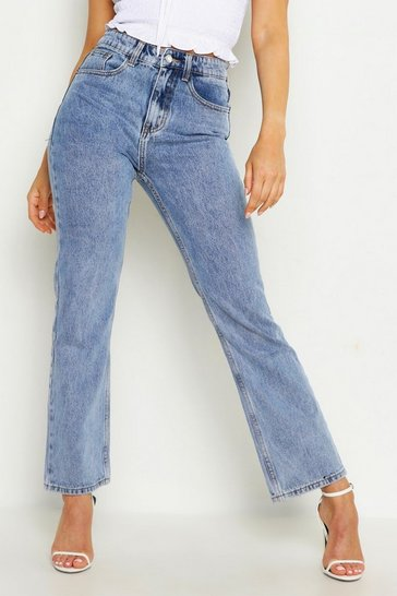 Womens Light blue High Rise Mom Jean