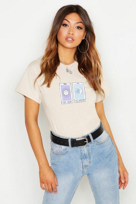 Sun Moon Slogan T-Shirt