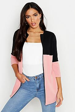 Contrast Panel Lightweight Duster