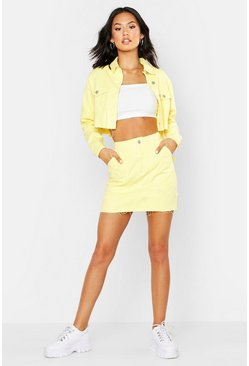 Womens Lemon Utility Denim Skirt