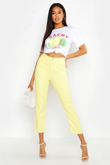 Womens Lemon High Rise Mom Jean