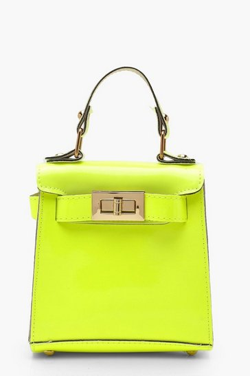 Womens Neon-lime Neon Mini Lock Bag