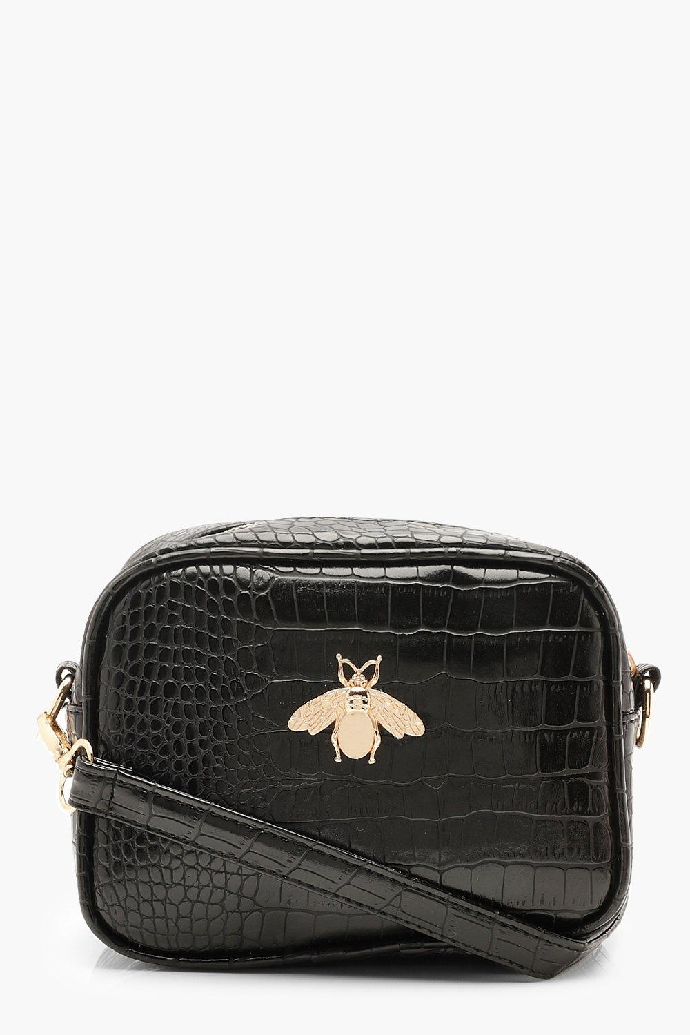 Croc Metal Bug Cross Body Bag