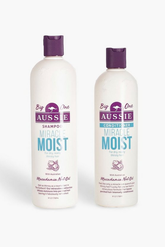 Womens White Aussie Large Miracle Moist Bundle