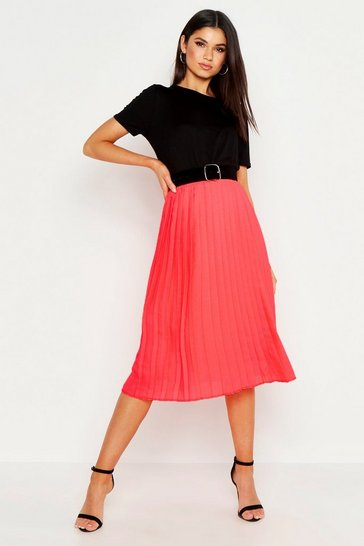 d90fdba6e7 Pleated Skirts | Midi & Long Pleated Skirts | boohoo UK