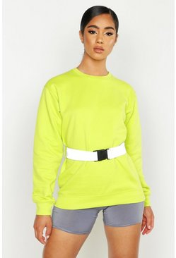 Neon-lime Reflective Belt Sweat