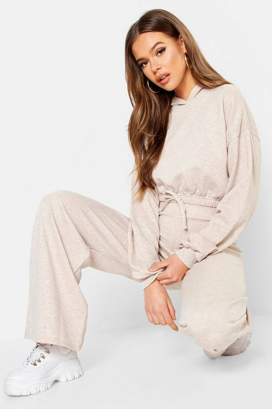 Womens Draw Cord Hoody & Wide Leg Jogger