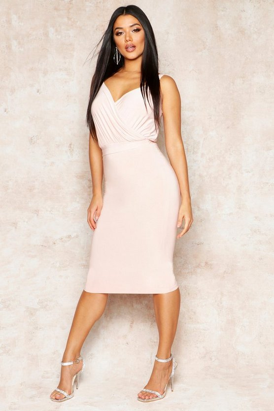 Womens Nude Double Slinky Midi Skirt