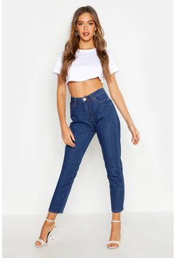 Mid blue High Rise Straight Leg Jean