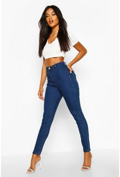 Womens Mid blue High Rise Disco Jean
