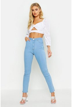 Womens Light blue High Rise Disco Jean