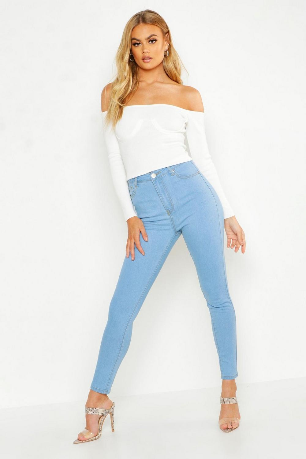 best quality shop best sellers temperament shoes High Rise Skinny Jean | Boohoo