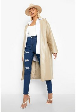 Womens Mid blue High Rise Super distressed Skinny Jean
