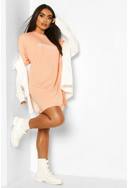 Apricot New Season Embroidered T Shirt Dress