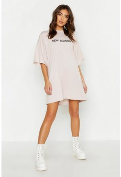 Stone New Season Embroidered T Shirt Dress