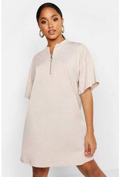 size 40 a54c6 5b486 T-Shirt-Kleid aus Baumwolle mit O-Ring-Reißverschluss