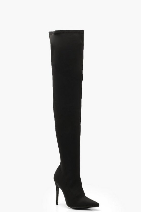 Stiletto Pointed Toe Over The Knee Boots