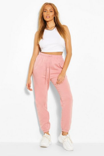Dusky pink Oversized Basic Cuff Bottom Jogger