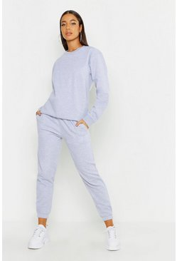 Grey Oversized Casual Cuff Bottom Jogger